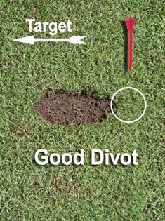Sample of a good golf divot.