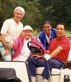 Group of golfers on Vacation